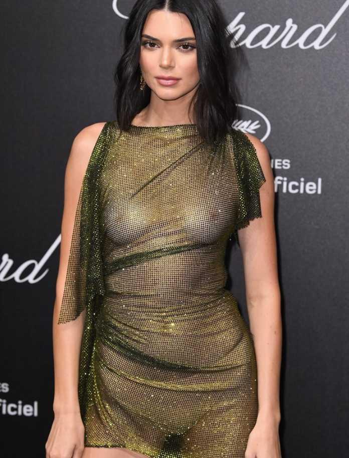 Кендалл Дженнер в прозрачном платье (7)