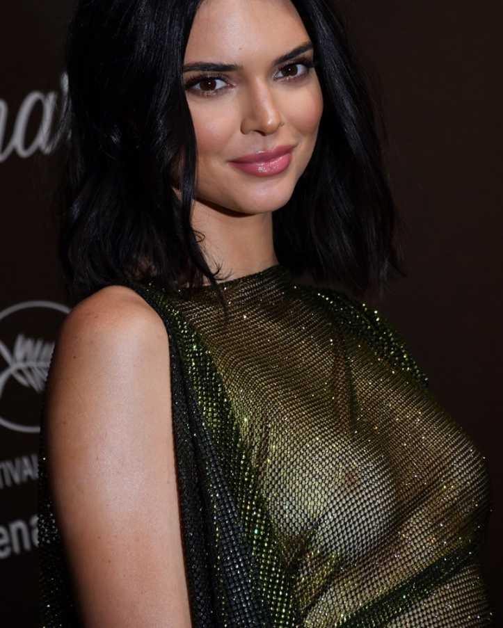 Kendall Jenner показала грудь (6)