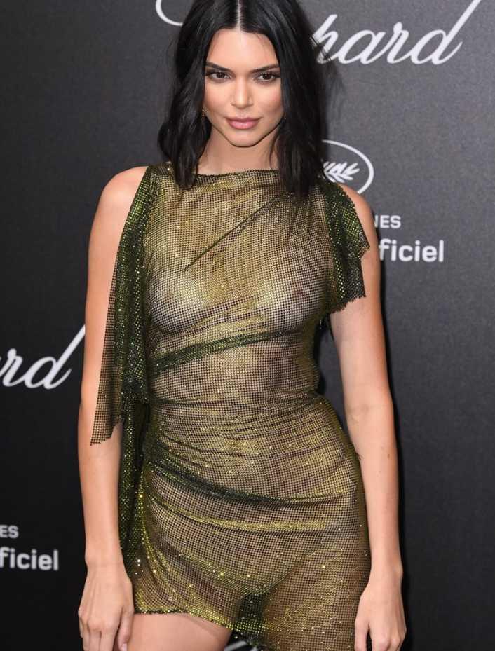 Kendall Jenner в откровенном платье (1)