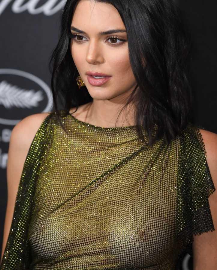 Kendall Jenner в откровенном платье (3)