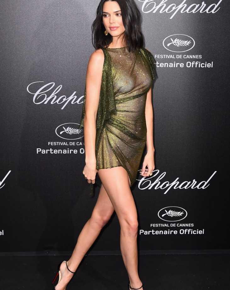 Kendall Jenner в откровенном платье (5)