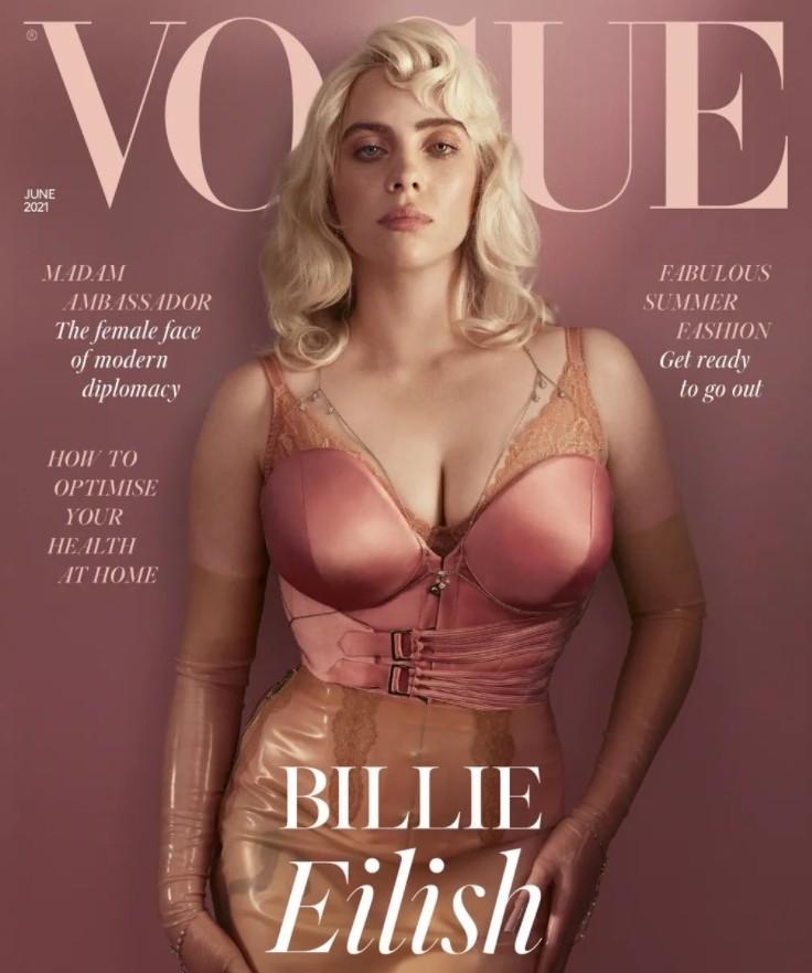 billie eilish posing in silk (2)