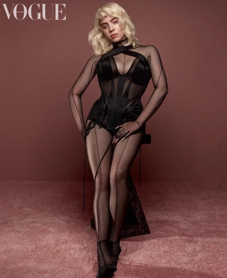 billie eilish posing in silk (3)